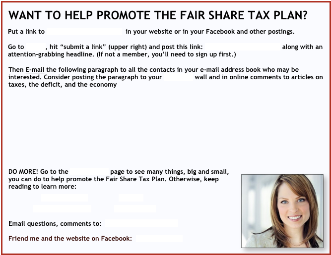 WANT TO HELP PROMOTE THE FAIR SHARE TAX PLAN?